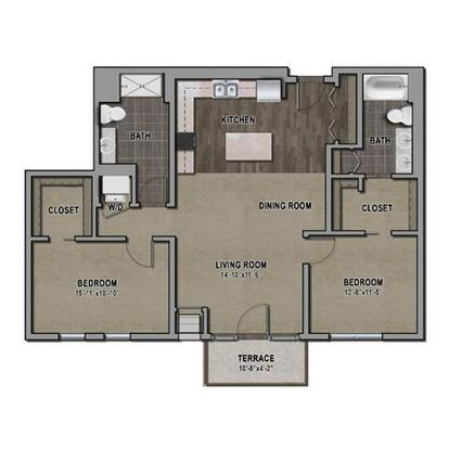 2 Bedrooms 2 Bathrooms Apartment for rent at One Southdale Place in Edina, MN