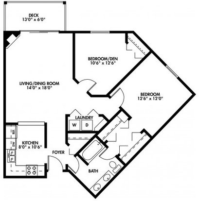 1 Bedroom 1 Bathroom Apartment for rent at Northpointe Apartments in Brown Deer, WI