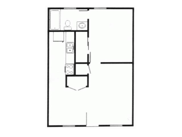 1 Bedroom 1 Bathroom Apartment for rent at Royal Orleans Apartments in Birmingham, AL