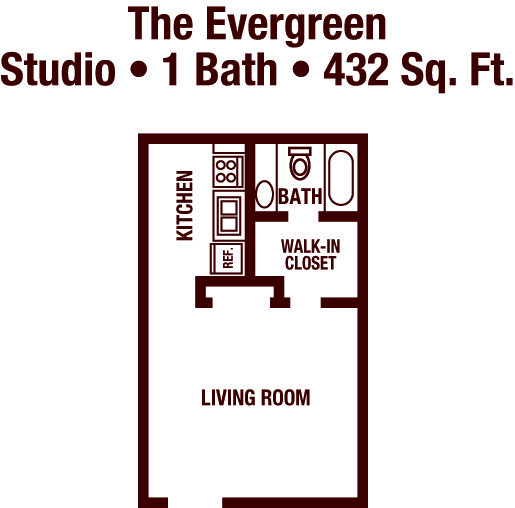Studio 1 Bathroom Apartment for rent at The Park At Carlyle in Birmingham, AL