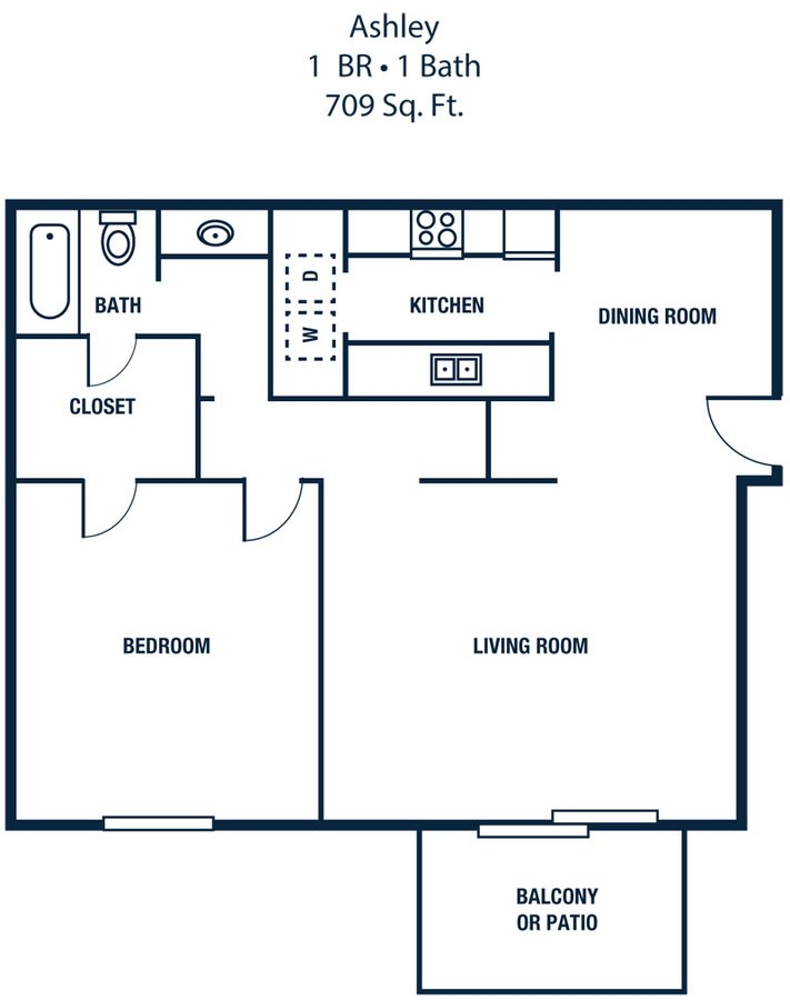 1 Bedroom 1 Bathroom Apartment for rent at The Park At Sunderland in Birmingham, AL