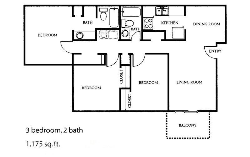 3 Bedrooms 2 Bathrooms Apartment for rent at The Park At Alloa in Birmingham, AL