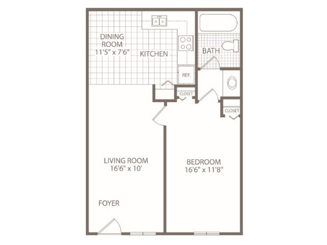 1 Bedroom 1 Bathroom Apartment for rent at Fox Valley Apartments in Birmingham, AL