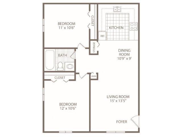 2 Bedrooms 1 Bathroom Apartment for rent at Fox Valley Apartments in Birmingham, AL