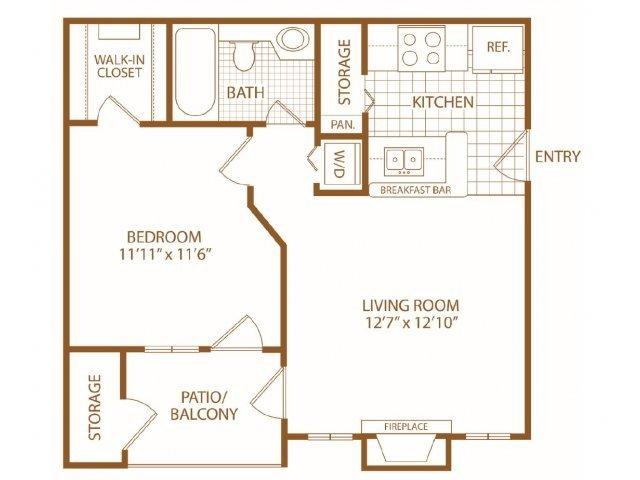 1 Bedroom 1 Bathroom Apartment for rent at The Woods At Ridgeway in Memphis, TN