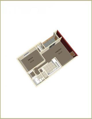 1 Bedroom 1 Bathroom Apartment for rent at Hunter Ridge in Bloomington, IN