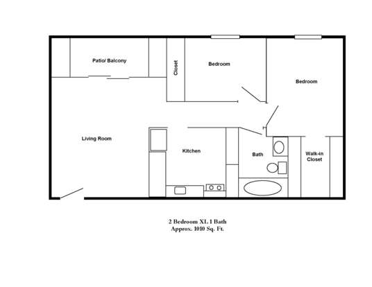 2 Bedrooms 1 Bathroom Apartment for rent at Park Doral in Bloomington, IN