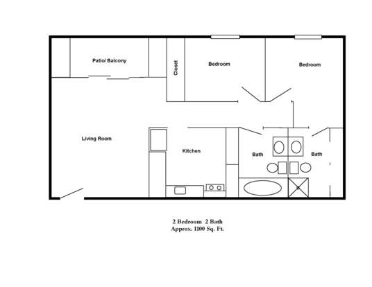 2 Bedrooms 2 Bathrooms Apartment for rent at Park Doral in Bloomington, IN