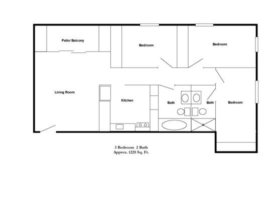 3 Bedrooms 2 Bathrooms Apartment for rent at Park Doral in Bloomington, IN