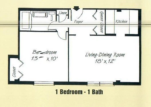1 Bedroom 1 Bathroom Apartment for rent at Devon Towers in Pittsburgh, PA