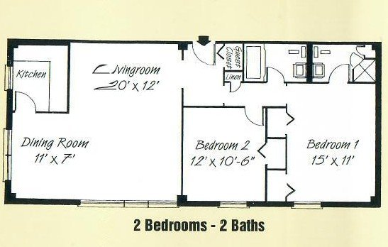 2 Bedrooms 2 Bathrooms Apartment for rent at Devon Towers in Pittsburgh, PA