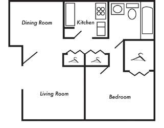 1 Bedroom 1 Bathroom Apartment for rent at Eagle View in Birmingham, AL
