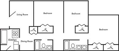 3 Bedrooms 2 Bathrooms Apartment for rent at Eagle View in Birmingham, AL