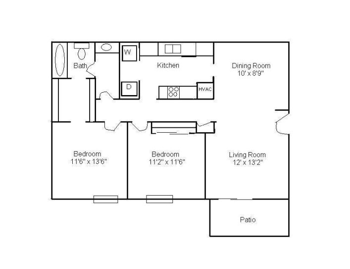 2 Bedrooms 1 Bathroom Apartment for rent at Westlake Apartments in Bessemer, AL