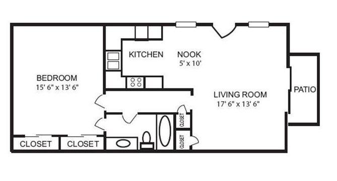 1 Bedroom 1 Bathroom Apartment for rent at Cedar Creek Apartments in Birmingham, AL
