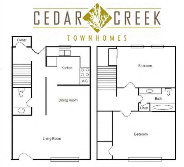 2 Bedrooms 2 Bathrooms Apartment for rent at Cedar Creek Apartments in Birmingham, AL