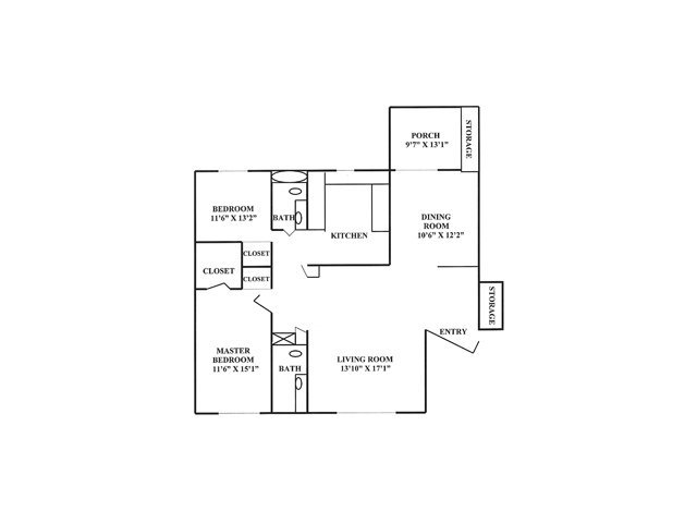 2 Bedrooms 2 Bathrooms Apartment for rent at Randolph Park in Charlotte, NC
