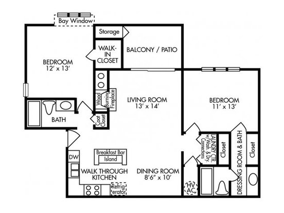 2 Bedrooms 2 Bathrooms Apartment for rent at River Birch in Charlotte, NC