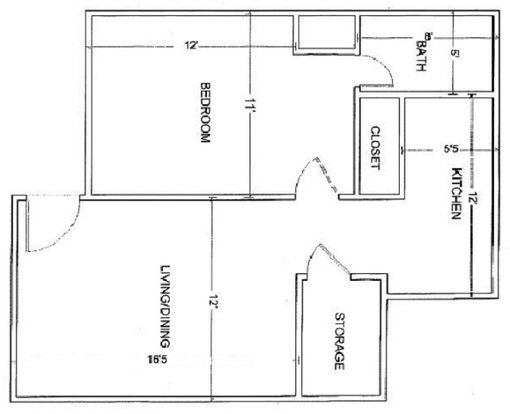 1 Bedroom 1 Bathroom Apartment for rent at Pershing Park Apartments in Memphis, TN