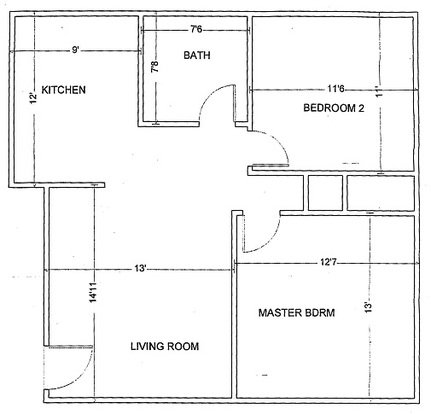 2 Bedrooms 1 Bathroom Apartment for rent at Pershing Park Apartments in Memphis, TN