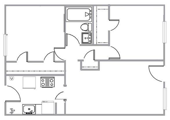 1 Bedroom 1 Bathroom Apartment for rent at Summit Park Apartments in Memphis, TN