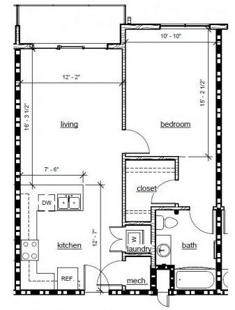1 Bedroom 1 Bathroom Apartment for rent at 29 Seven in Birmingham, AL