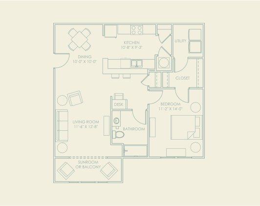 1 Bedroom 1 Bathroom Apartment for rent at The Village At Lakeshore Crossings in Birmingham, AL