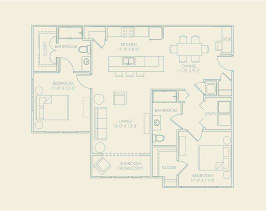2 Bedrooms 2 Bathrooms Apartment for rent at The Village At Lakeshore Crossings in Birmingham, AL