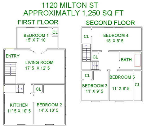 5 Bedrooms 2 Bathrooms House for rent at 1120 Milton St in Madison, WI