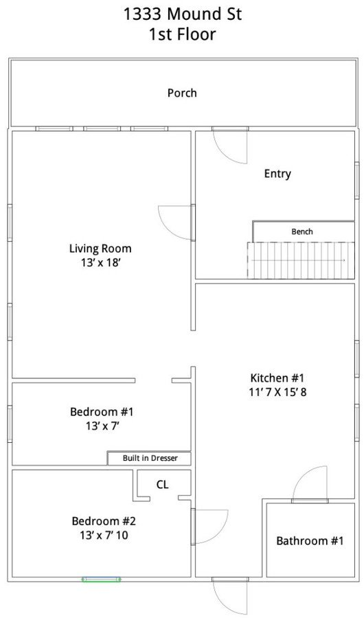 8+ Bedrooms 2 Bathrooms House for rent at 1333 Mound St in Madison, WI