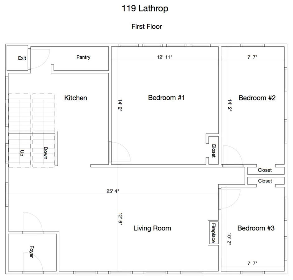5 Bedrooms 2 Bathrooms House for rent at 119 Lathrop St in Madison, WI