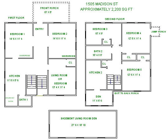 6 Bedrooms 2 Bathrooms House for rent at 1505 Madison St in Madison, WI