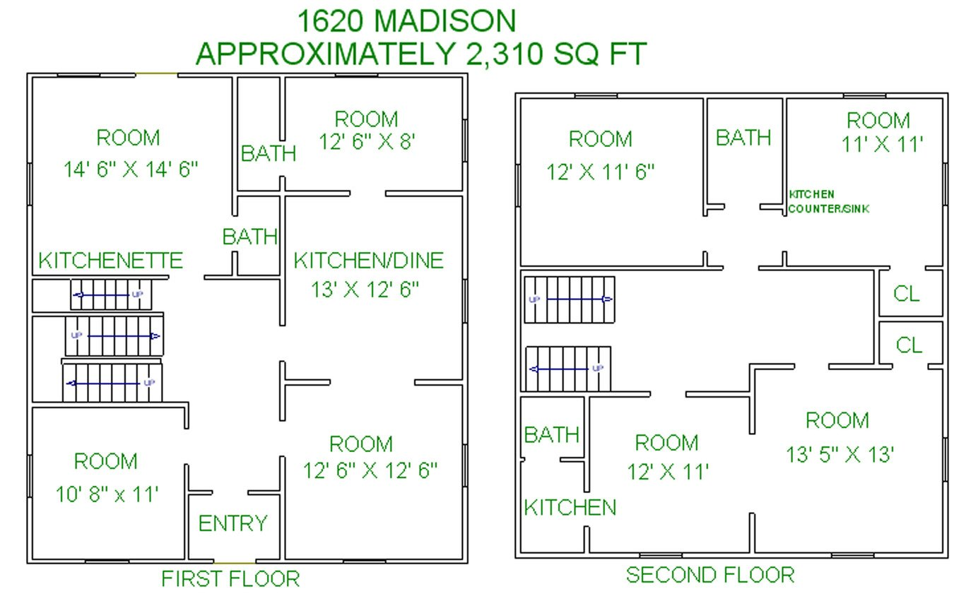 7 Bedrooms 4+ Bathrooms Apartment for rent at 1620 Madison Street in Madison, WI