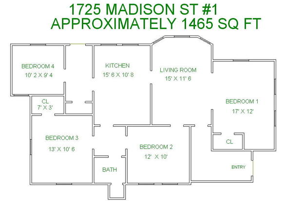 4 Bedrooms 2 Bathrooms House for rent at 1725 Madison St in Madison, WI