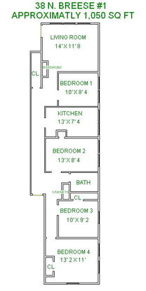 4 Bedrooms 1 Bathroom Apartment for rent at 38 N Breese Terrace in Madison, WI