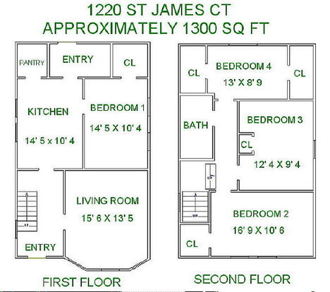 5 Bedrooms 2 Bathrooms House for rent at 1220 St James Ct in Madison, WI