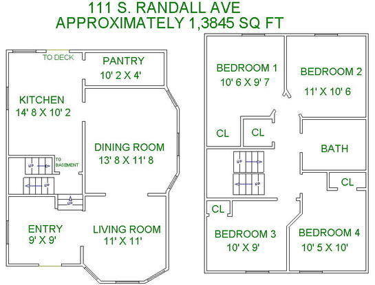 4 Bedrooms 2 Bathrooms House for rent at 111 S Randall Ave in Madison, WI