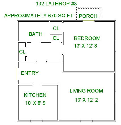 1 Bedroom 1 Bathroom Apartment for rent at 132 Lathrop St in Madison, WI