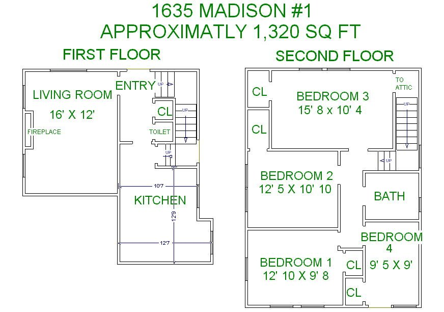 7 Bedrooms 3 Bathrooms Apartment for rent at 1635 Madison Street in Madison, WI