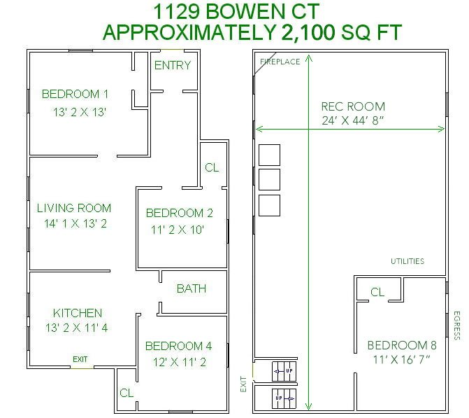 8+ Bedrooms 2 Bathrooms House for rent at 1131 Bowen Court in Madison, WI