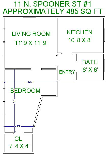 1 Bedroom 1 Bathroom House for rent at 11 N Spooner St in Madison, WI