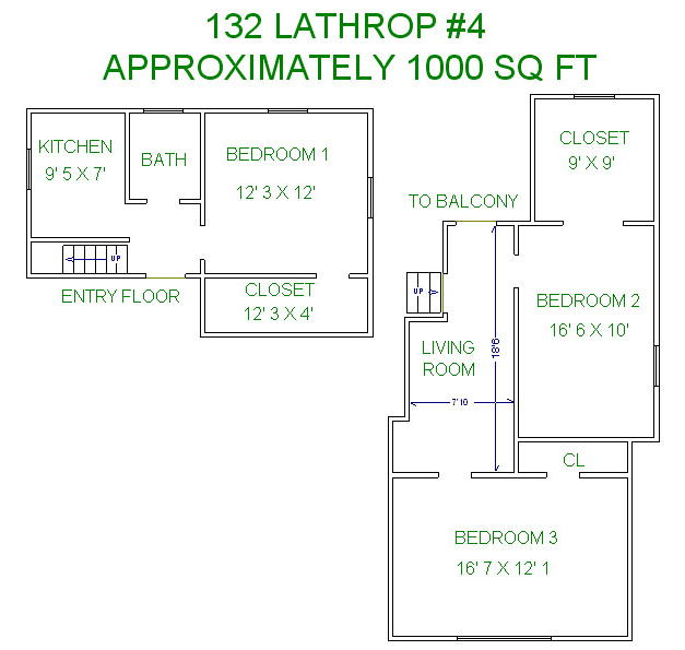 3 Bedrooms 1 Bathroom Apartment for rent at 132 Lathrop St in Madison, WI