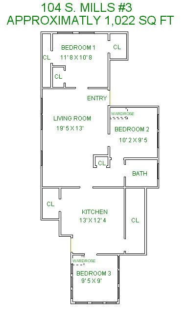 3 Bedrooms 1 Bathroom House for rent at 104 S Mills St in Madison, WI