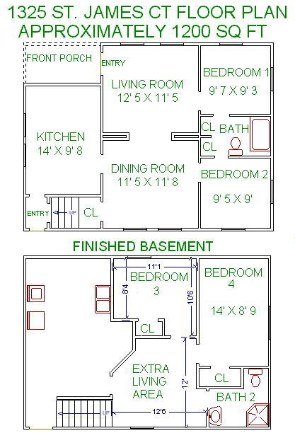 4 Bedrooms 2 Bathrooms House for rent at 1325 St James Ct in Madison, WI