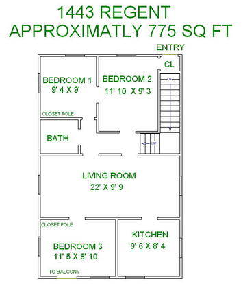 3 Bedrooms 1 Bathroom Apartment for rent at 1443 Regent Street in Madison, WI