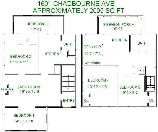 6 Bedrooms 2 Bathrooms House for rent at 1601 Chadbourne Ave in Madison, WI
