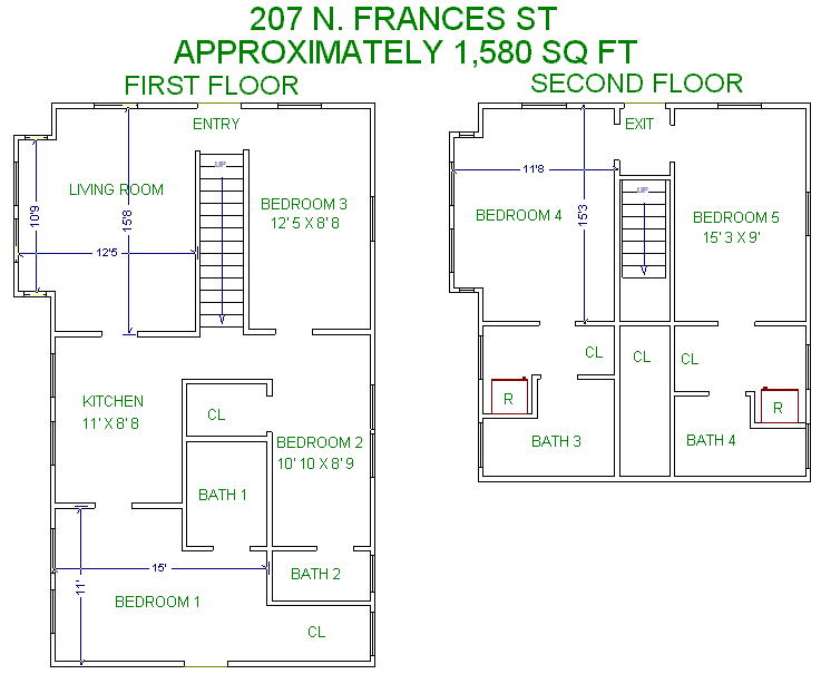 5 Bedrooms 4+ Bathrooms House for rent at 207 N Frances St in Madison, WI
