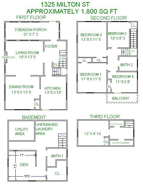 5 Bedrooms 2 Bathrooms House for rent at 1325 Milton Street in Madison, WI