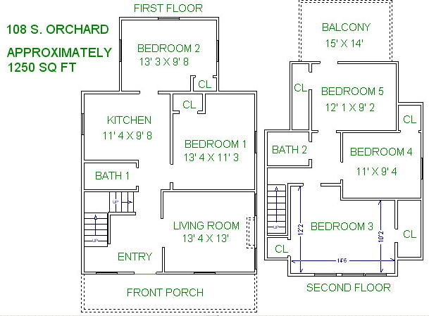 5 Bedrooms 2 Bathrooms House for rent at 108 S Orchard Street in Madison, WI