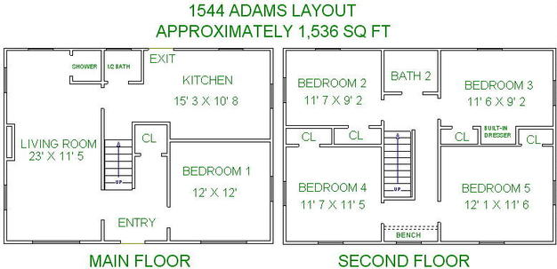 5 Bedrooms 2 Bathrooms House for rent at 1544 Adams Street in Madison, WI